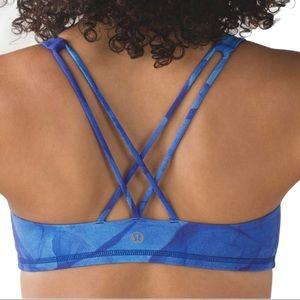 Lululemon blue sports bra size 8